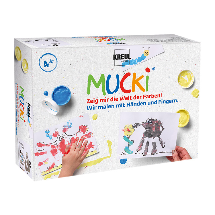 可洛尔 德国儿童颜料 手指画颜料创意绘画盒 可水洗安全无毒包邮