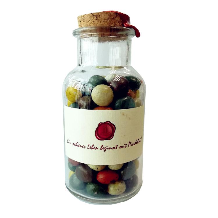 鹅卵石糖果200g瓶装 杏仁葡萄干夹心