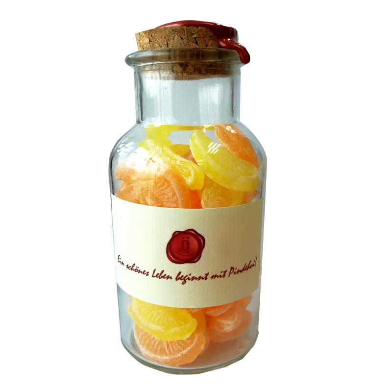 芽嘧 柠檬香橙糖100g瓶装